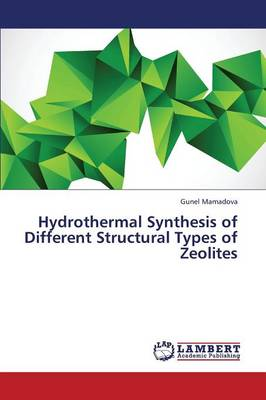 Hydrothermal Synthesis of Different Structural Types of Zeolites (Paperback)