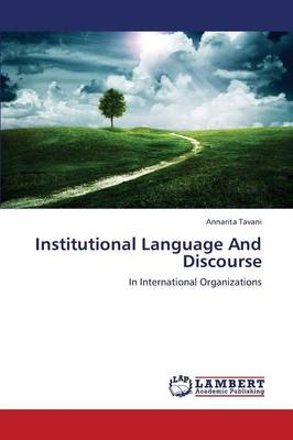Institutional Language and Discourse (Paperback)