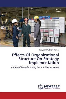 Effects of Organizational Structure on Strategy Implementation (Paperback)