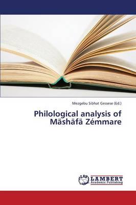 Philological Analysis of Mashafa Zemmare (Paperback)