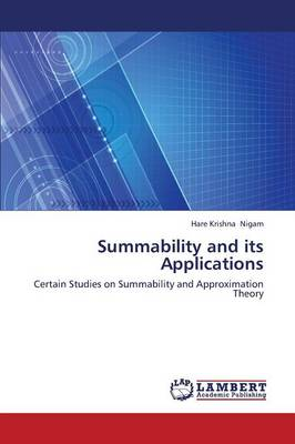 Summability and Its Applications (Paperback)