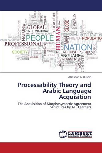 Processability Theory and Arabic Language Acquisition (Paperback)