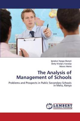 The Analysis of Management of Schools (Paperback)