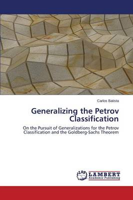 Generalizing the Petrov Classification (Paperback)