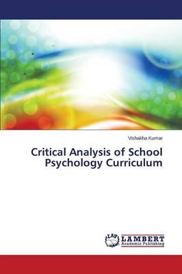 Critical Analysis of School Psychology Curriculum (Paperback)