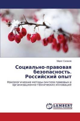 Sotsial'no-Pravovaya Bezopasnost'. Rossiyskiy Opyt (Paperback)