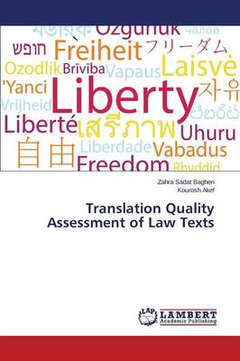 Translation Quality Assessment of Law Texts (Paperback)