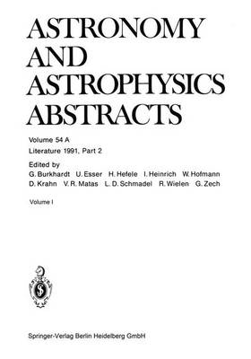 Literature 1991, Part 2 - Astronomy and Astrophysics Abstracts 54 (Paperback)