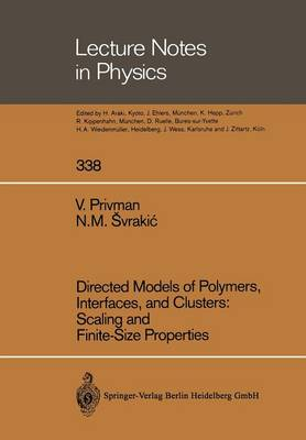 Directed Models of Polymers, Interfaces, and Clusters: Scaling and Finite-Size Properties - Lecture Notes in Physics 338 (Paperback)