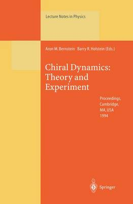 Chiral Dynamics: Theory and Experiment: Proceedings of the Workshop Held at MIT, Cambridge, MA, USA, 25-29 July 1994 - Lecture Notes in Physics 452 (Paperback)