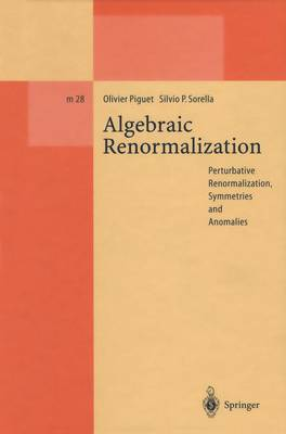 Algebraic Renormalization: Perturbative Renormalization, Symmetries and Anomalies - Lecture Notes in Physics Monographs 28 (Paperback)