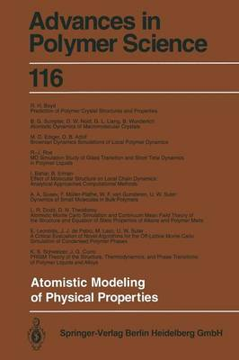 Atomistic Modeling of Physical Properties - Advances in Polymer Science 116 (Paperback)