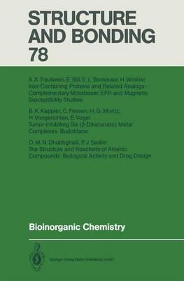Bioinorganic Chemistry - Structure and Bonding 78 (Paperback)
