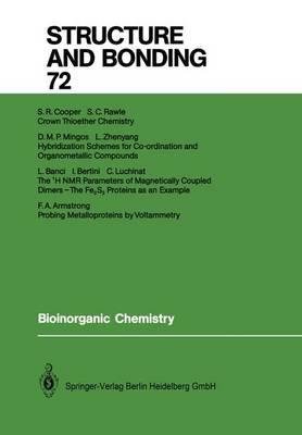 Bioinorganic Chemistry - Structure and Bonding 72 (Paperback)