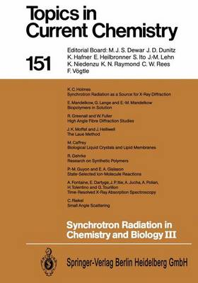 Synchrotron Radiation in Chemistry and Biology III - Topics in Current Chemistry 151 (Paperback)