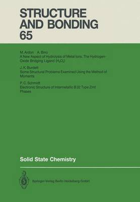 Solid State Chemistry - Structure and Bonding 65 (Paperback)