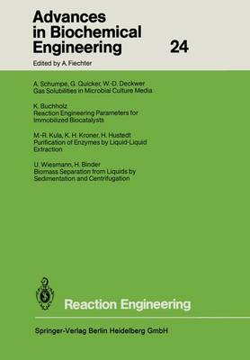 Reaction Engineering - Advances in Biochemical Engineering/Biotechnology 24 (Paperback)