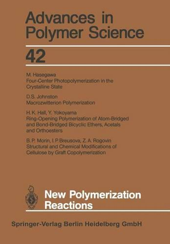 New Polymerization Reactions - Advances in Polymer Science 42 (Paperback)