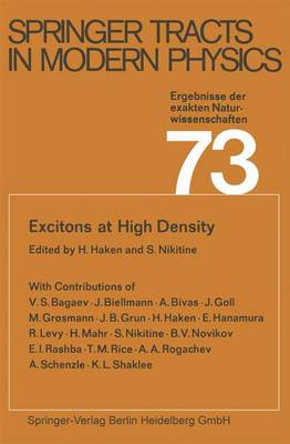 Excitons at High Density - Springer Tracts in Modern Physics 73 (Paperback)