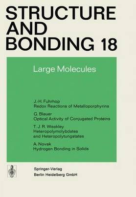 Large Molecules - Structure and Bonding 18 (Paperback)