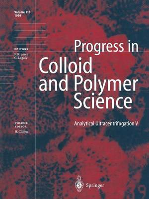 Analytical Ultracentrifugation V - Progress in Colloid and Polymer Science 113 (Paperback)