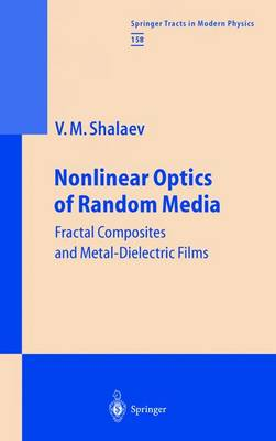 Nonlinear Optics of Random Media: Fractal Composites and Metal-Dielectric Films - Springer Tracts in Modern Physics 158 (Paperback)
