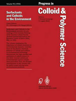 Surfactants and Colloids in the Environment - Progress in Colloid and Polymer Science 95 (Paperback)