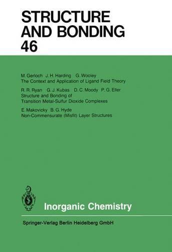 Inorganic Chemistry - Structure and Bonding 46 (Paperback)