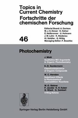 Photochemistry - Topics in Current Chemistry 46 (Paperback)
