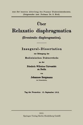 ber Relaxatio Diaphragmatica (Eventratio Diaphragmatica) (Paperback)