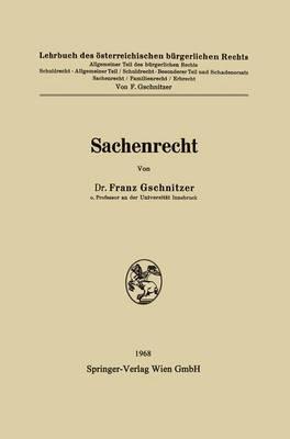 Sachenrecht (Paperback)