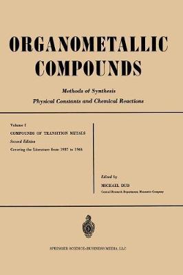 Compounds of Transition Metals - Organometallic Compounds 1 (Paperback)