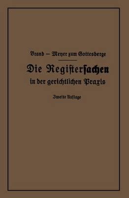Die Registersachen (Paperback)