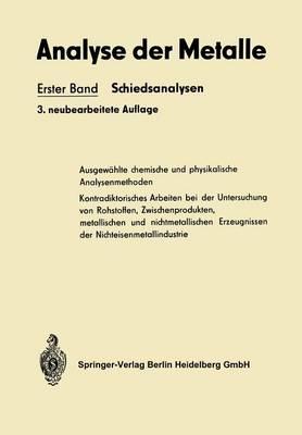 Analyse Der Metalle (Paperback)