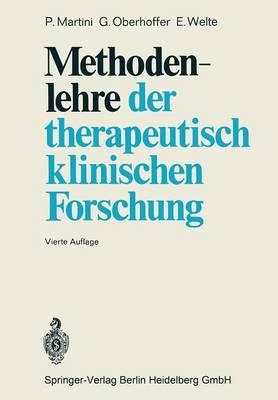Methodenlehre Der Therapeutisch-Klinischen Forschung (Paperback)