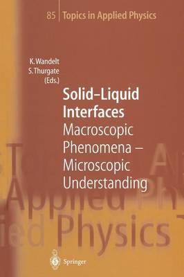 Solid-Liquid Interfaces: Macroscopic Phenomena - Microscopic Understanding - Topics in Applied Physics 85 (Paperback)