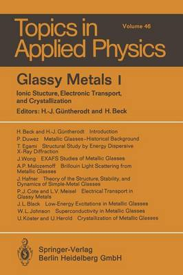 Glassy Metals I: Ionic Structure, Electronic Transport, and Crystallization - Topics in Applied Physics 46 (Paperback)
