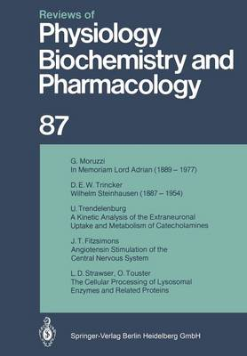 Reviews of Physiology, Biochemistry and Pharmacology: Volume: 96 - Reviews of Physiology, Biochemistry and Pharmacology 96 (Paperback)