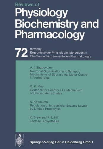 Reviews of Physiology, Biochemistry and Pharmacology: Volume: 72 - Reviews of Physiology, Biochemistry and Pharmacology 72 (Paperback)