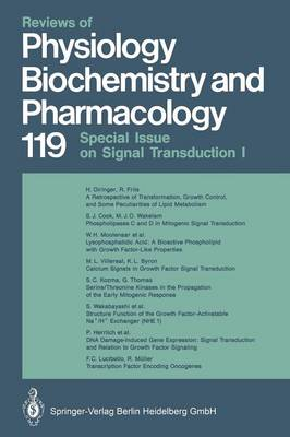 Reviews of Physiology, Biochemistry and Pharmacology - Reviews of Physiology, Biochemistry and Pharmacology 133 (Paperback)