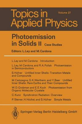 Photoemission in Solids II: Case Studies - Topics in Applied Physics 27 (Paperback)