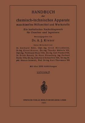 Handbuch Der Chemisch-Technischen Apparate Maschinellen Hilfsmittel Und Werkstoffe: Ein Lexikalisches Nachschlagewerk F r Chemiker Und Ingenieure (Paperback)