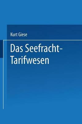 Das Seefracht-Tarifwesen (Paperback)