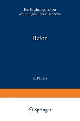 Beton: Anregungen Zur Verbesserung Des Materials (Paperback)