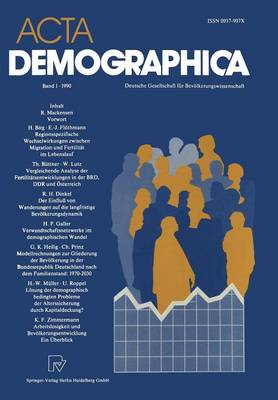 ACTA Demographica: Deutsche Gesellschaft F r Bev lkerungswissenschaft E.V. (Paperback)