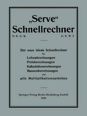 """""""Serve"""" Schnellrechner (Paperback)"""