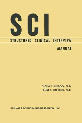 SCI, Structured Clinical Interview: Manual (Paperback)