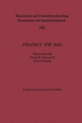Strategy for R&D: Studies in the Microeconomics of Development - OEkonometrie und Unternehmensforschung   Econometrics and Operations Research (Paperback)