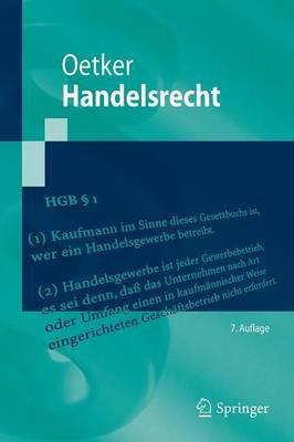 Handelsrecht - Springer-Lehrbuch (Paperback)