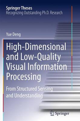 High-Dimensional and Low-Quality Visual Information Processing: From Structured Sensing and Understanding - Springer Theses (Paperback)